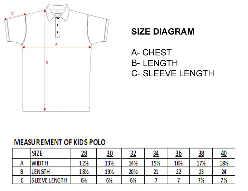 measurement-kids   Classic Polo & Embroidery